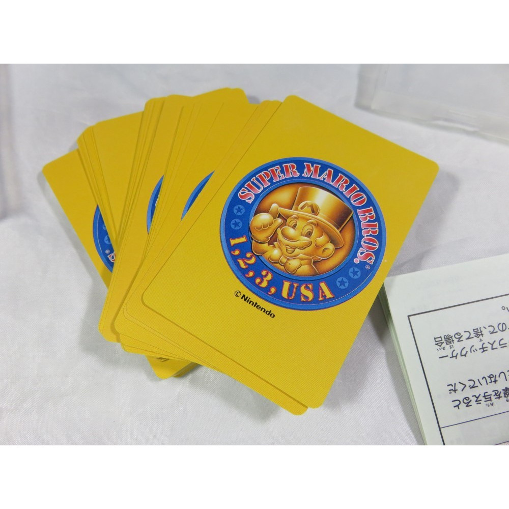 NINTENDO SUPER MARIO BROS. 1,2,3,USA CARD GAME (JEU DE CARTES / TRUMP) CLUB NINTENDO JPN 93 OCCASION