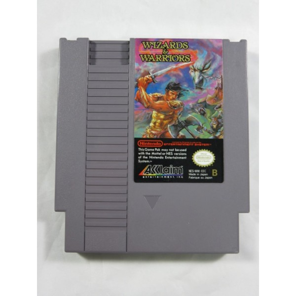 WIZARDS & WARRIORS NES PAL-B FAH S(CARTRIDGE ONLY - GOOD CONDITION)