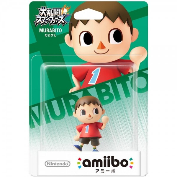 AMIIBO SUPER SMASH BROS MURABITO JAP NEW