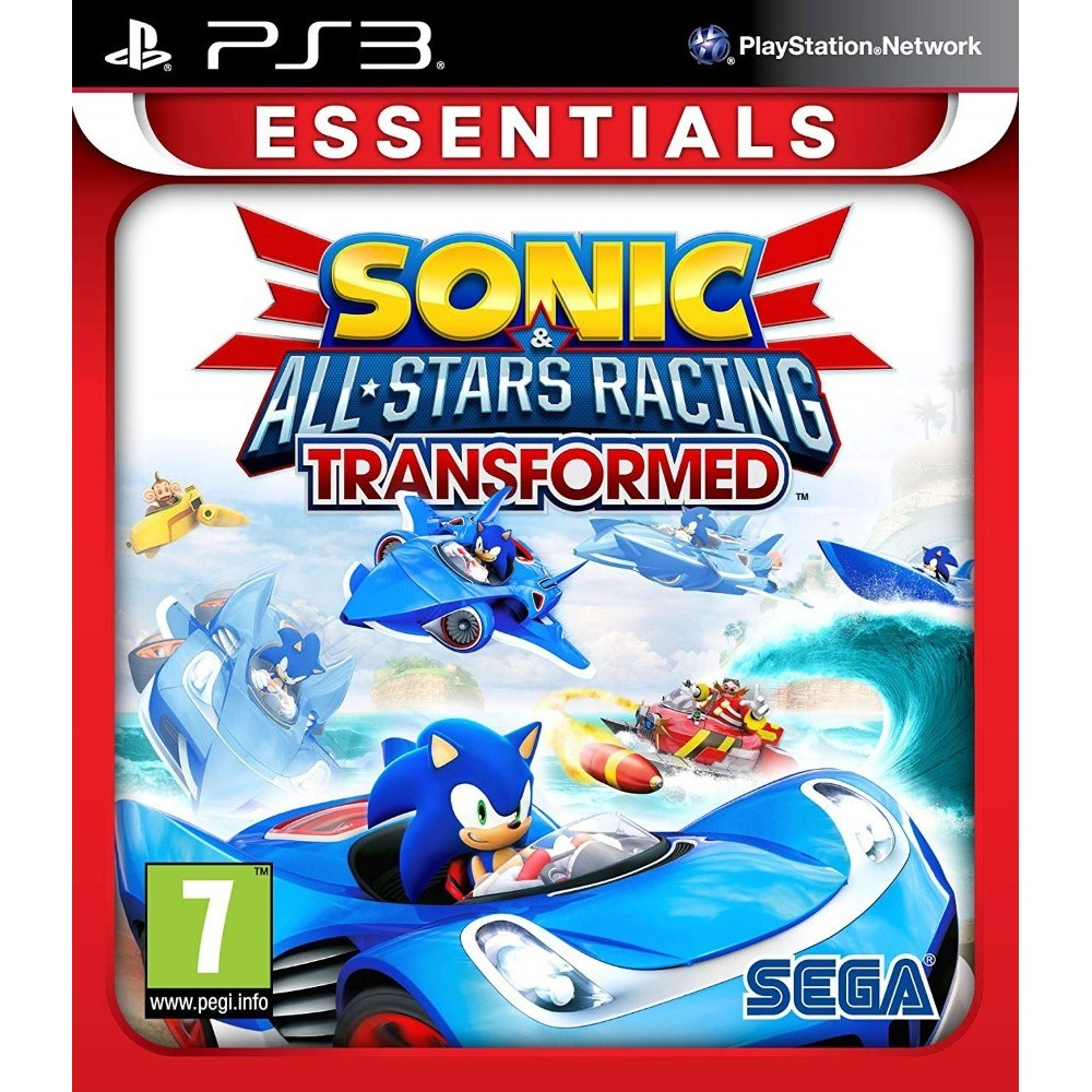 SONIC ALL STARS RACING TRANSFORMED (ESSENTIALS) PS3 UK NEW