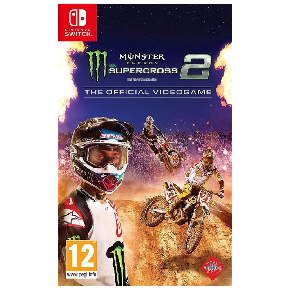 MONSTER ENERGY SUPERCROSS THE OFFICIAL VIDEOGAME 2 SWITCH UK NEW