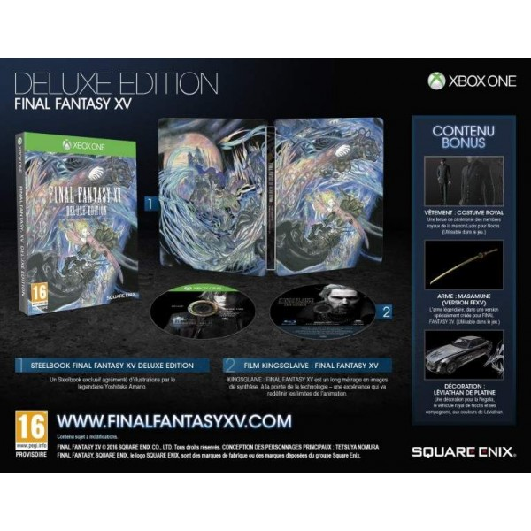 FINAL FANTASY XV EDITION DELUXE XBOX ONE FRANCAIS OCCASION