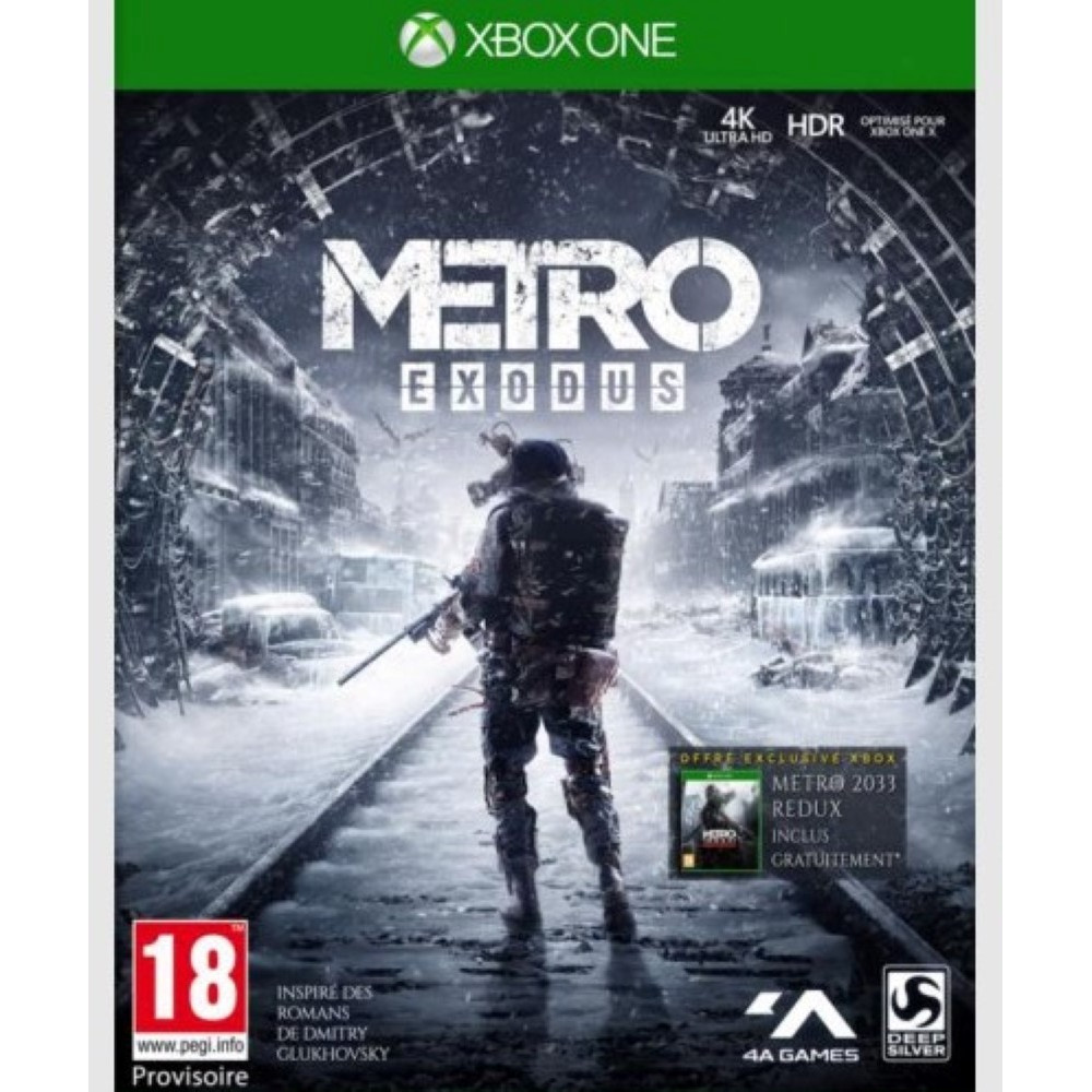 METRO EXODUS XBOX ONE PAL FR NEW