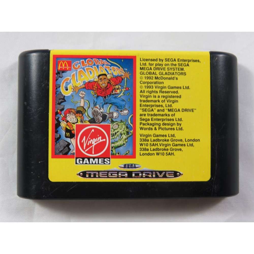 GLOBAL GLADIATOR MEGADRIVE PAL-EURO LOOSE (ETAT B)