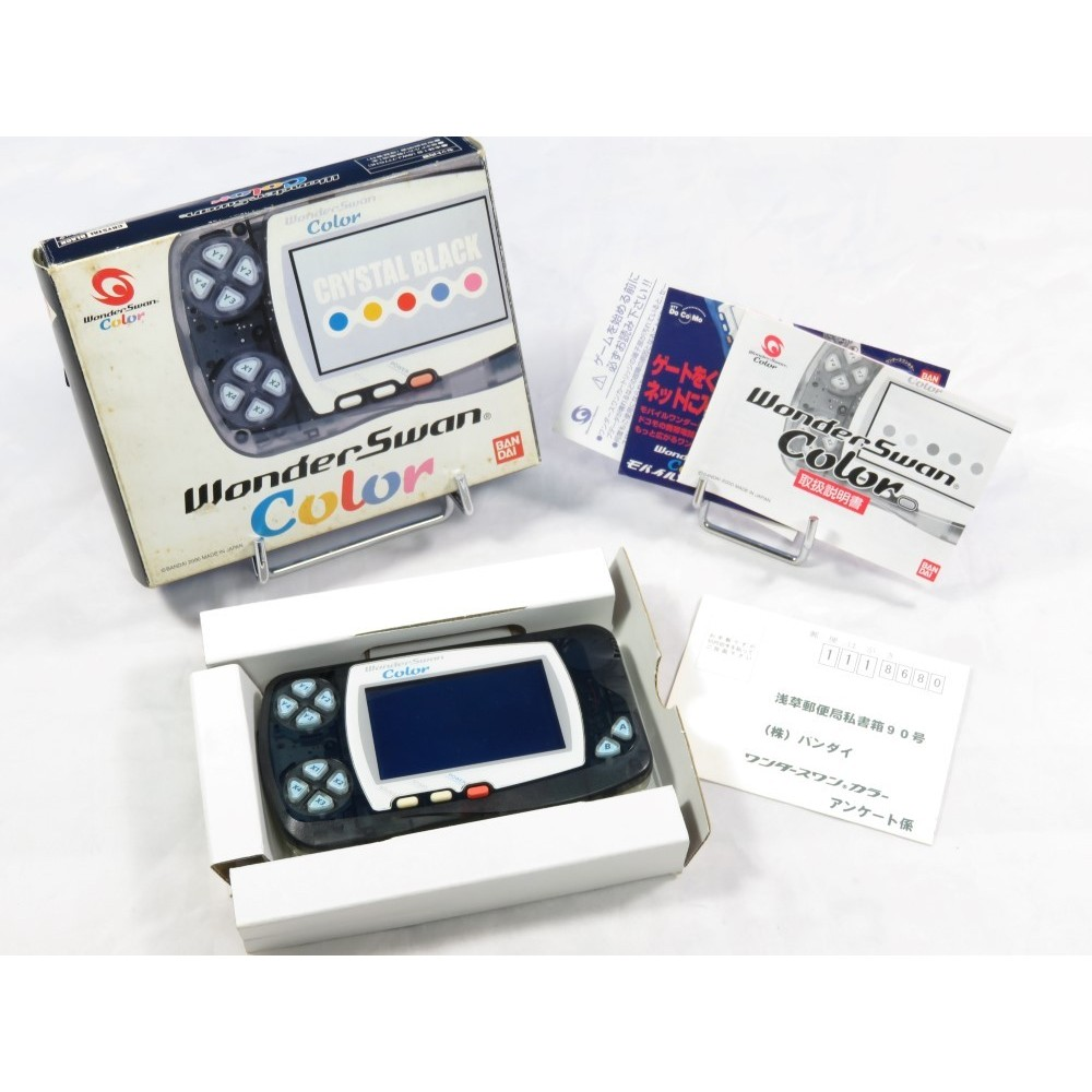 CONSOLE WONDERSWAN COLOR CRYSTAL BLACK JPN OCCASION