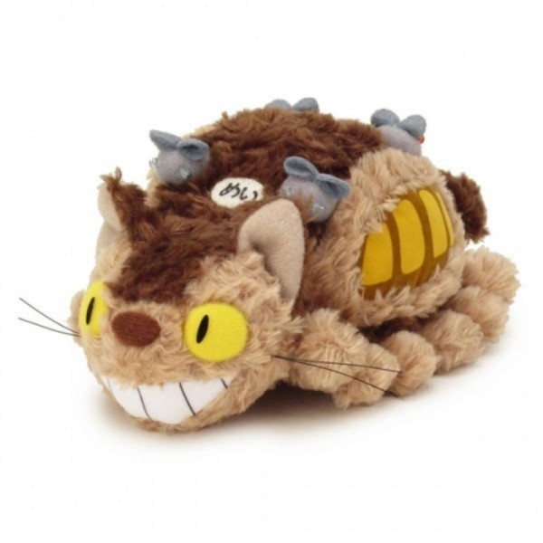 PELUCHE GHIBLI FLUFFY CAT BUS 26 CM EURO NEW