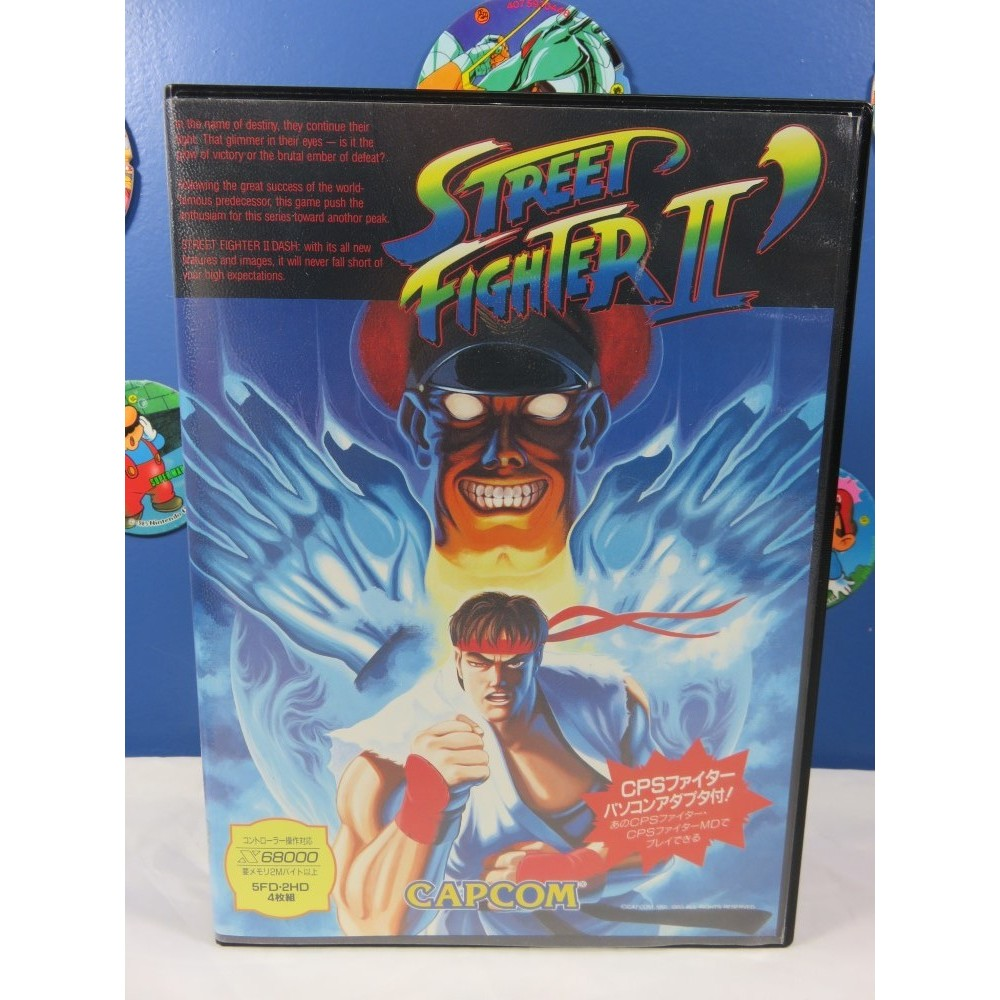 STREET FIGHTER II DASH (AVEC ADAPTATEUR CPS) X68000 JPN OCCASION