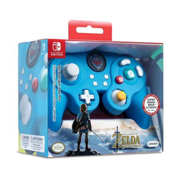 CONTROLLER FILAIRE THE LEGEND OF ZELDA BREATH OF THE WILD PDP SWITCH FR NEW