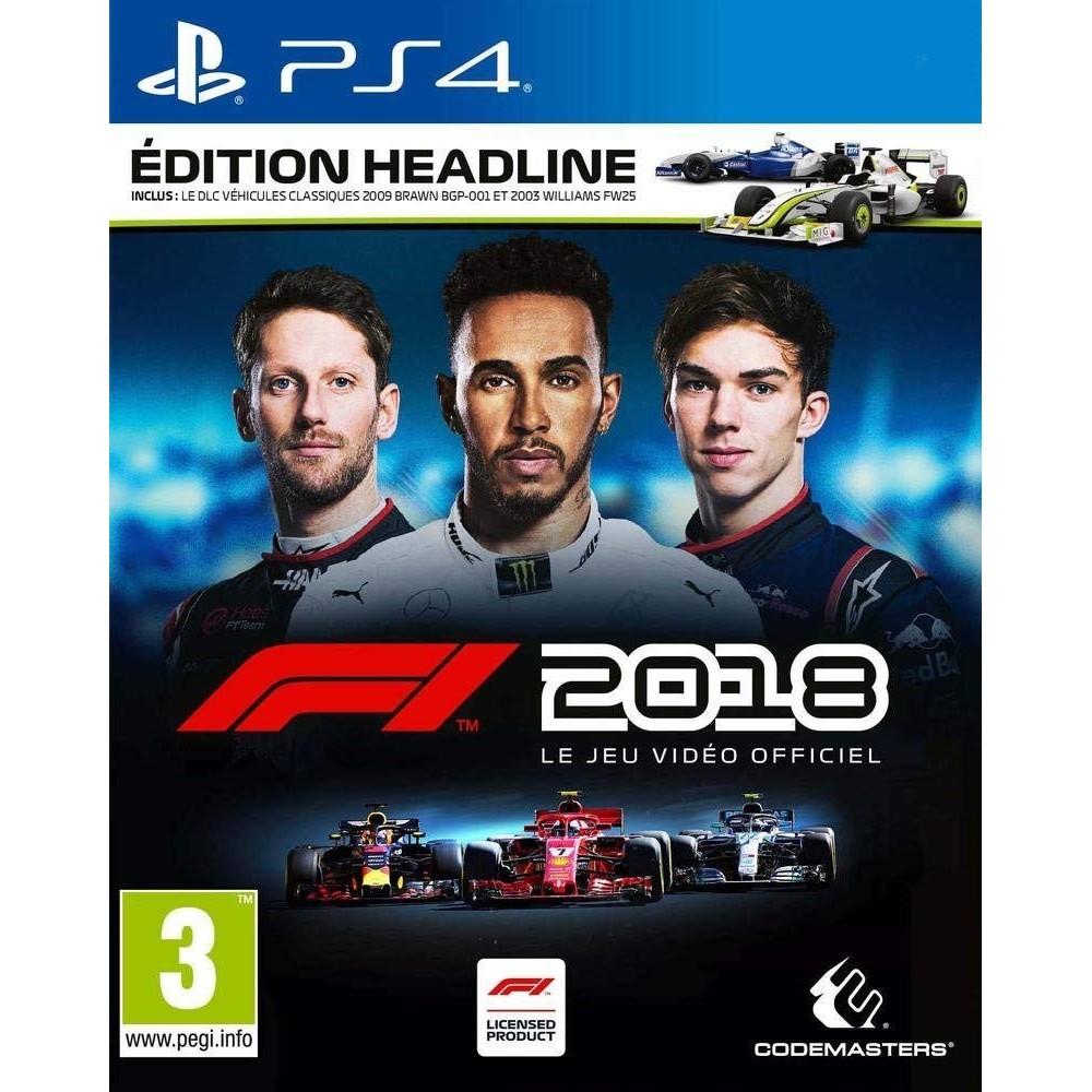 F1 2018 HEADLINE EDITION PS4 FR OCCASION