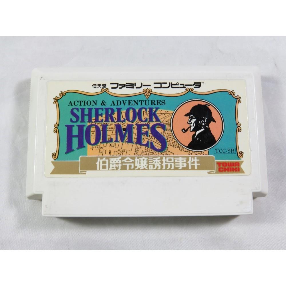 SHERLOCK HOLMES HAKUSHAKU REIJO YUKAI JIKEN FAMICOM NTSC-JPN LOOSE