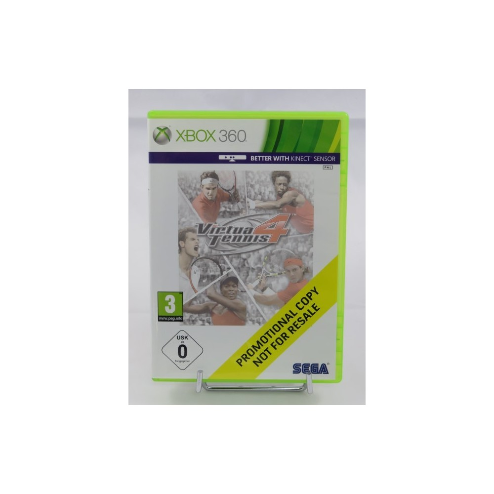 VIRTUA TENNIS 4 (PROMOTIONAL COPY) XBOX 360 PAL-UK OCCASION