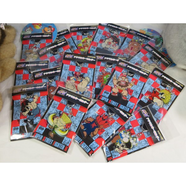 E-Capcom Limited Street Fighter Acrylic Keyholder (x17) Full Set JPN