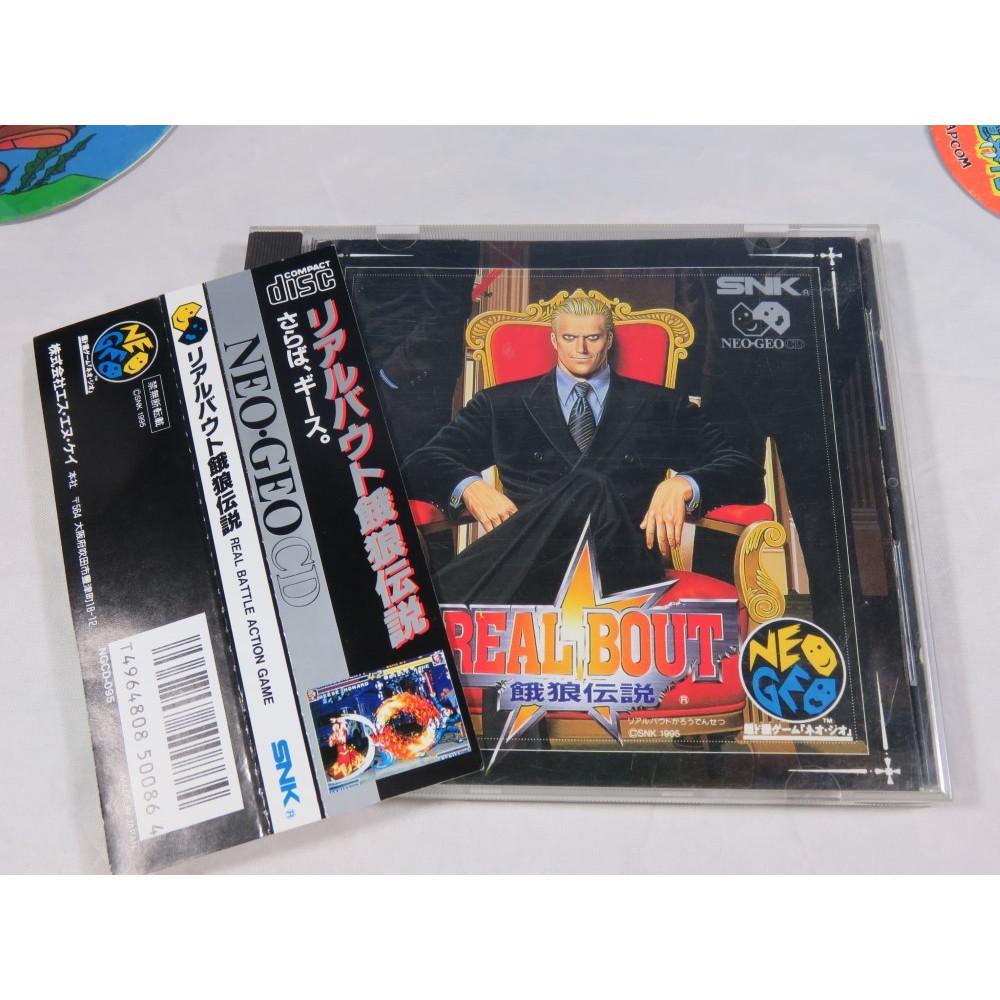 GAROU DENSETSU - FATAL FURY REAL BOUT NEO GEO CD NTSC-JPN OCCASION (AVEC SPIN) (ETAT B)