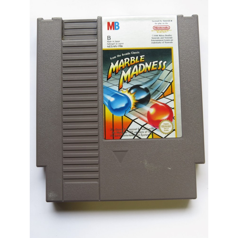 MARBLE MADNESS NINTENDO NES PAL-B FRA (CARTRIDGE ONLY - GOOD CONDITION)