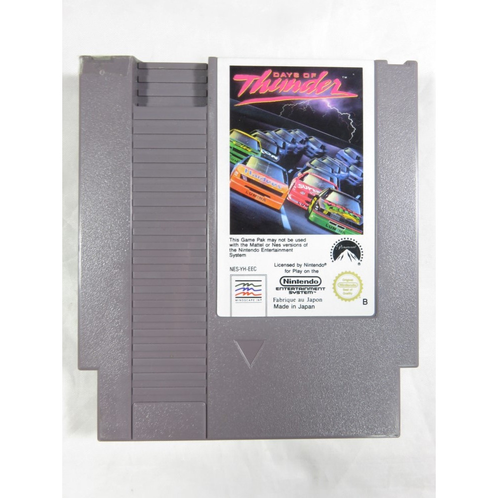 DAYS OF THUNDER NINTENDO NES PAL-B EEC (CARTRIDGE ONLY - GOOD CONDITION)