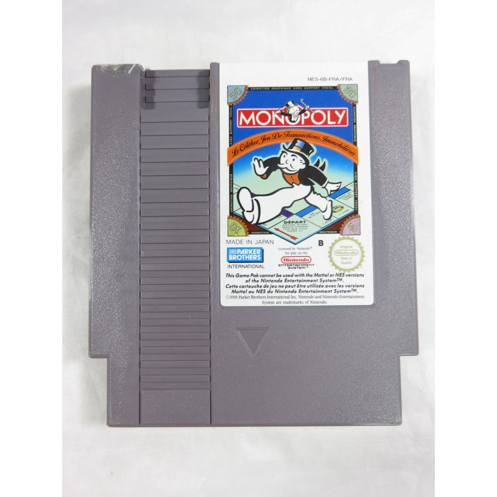 MONOPOLY NINTENDO NES PAL-B FRA (CARTRIDGE ONLY - GOOD CONDITION)