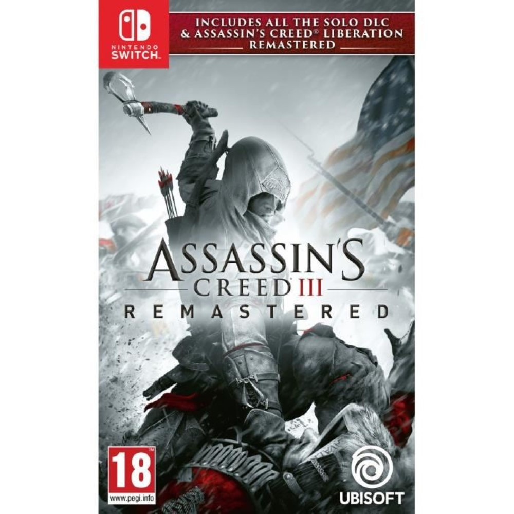 ASSASSIN'S CREED 3 + ASSASSIN'S CREED LIBERATION REMASTERED SWITCH PAL FR NEW