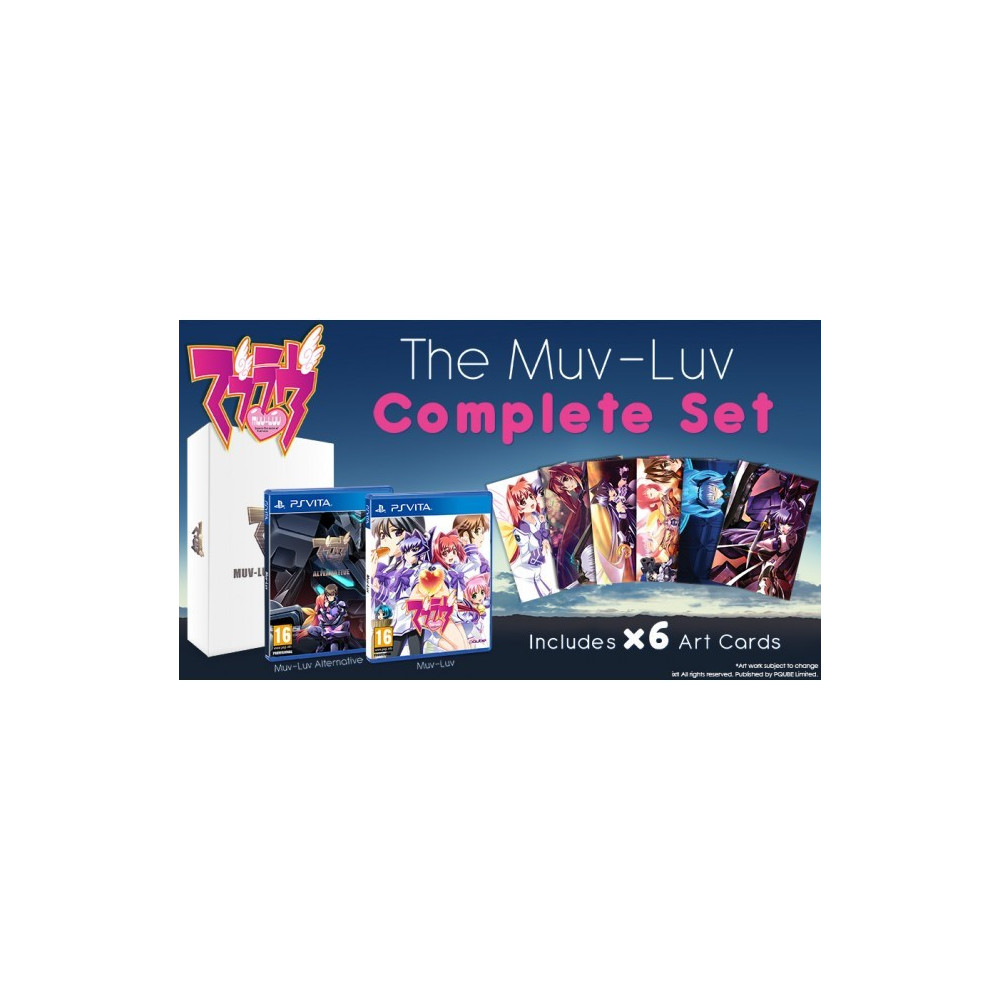 MUV-LUV COMPLETE SET COLLECTOR S EDITION (RICE EXCLUSIVE) + ART CARDS PSVITA EURO NEW