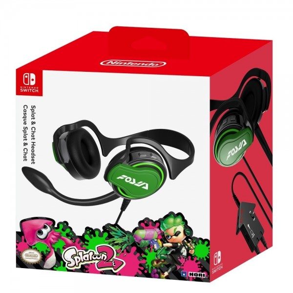 CASQUE HORI SPLATOON 2 SPLATCHAT SWITCH EURO OCCASION