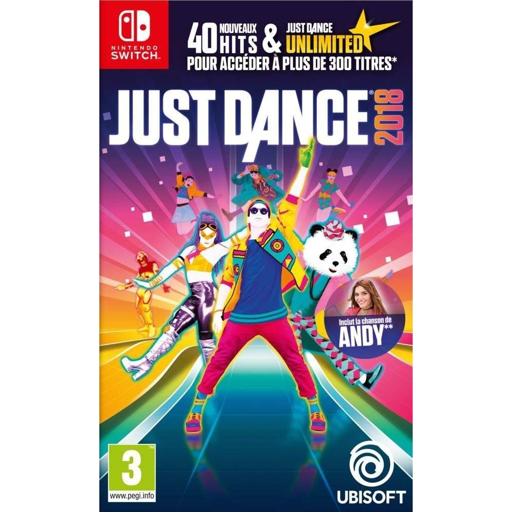 JUST DANCE 2018 SWITCH EURO FR OCCASION