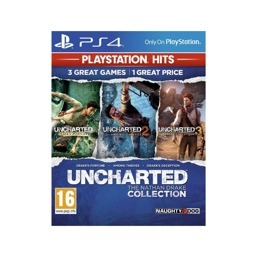 UNCHARTED THE NATHAN DRAKE COLLECTION PLAYSTATION HITS PS4 FR OCCASION