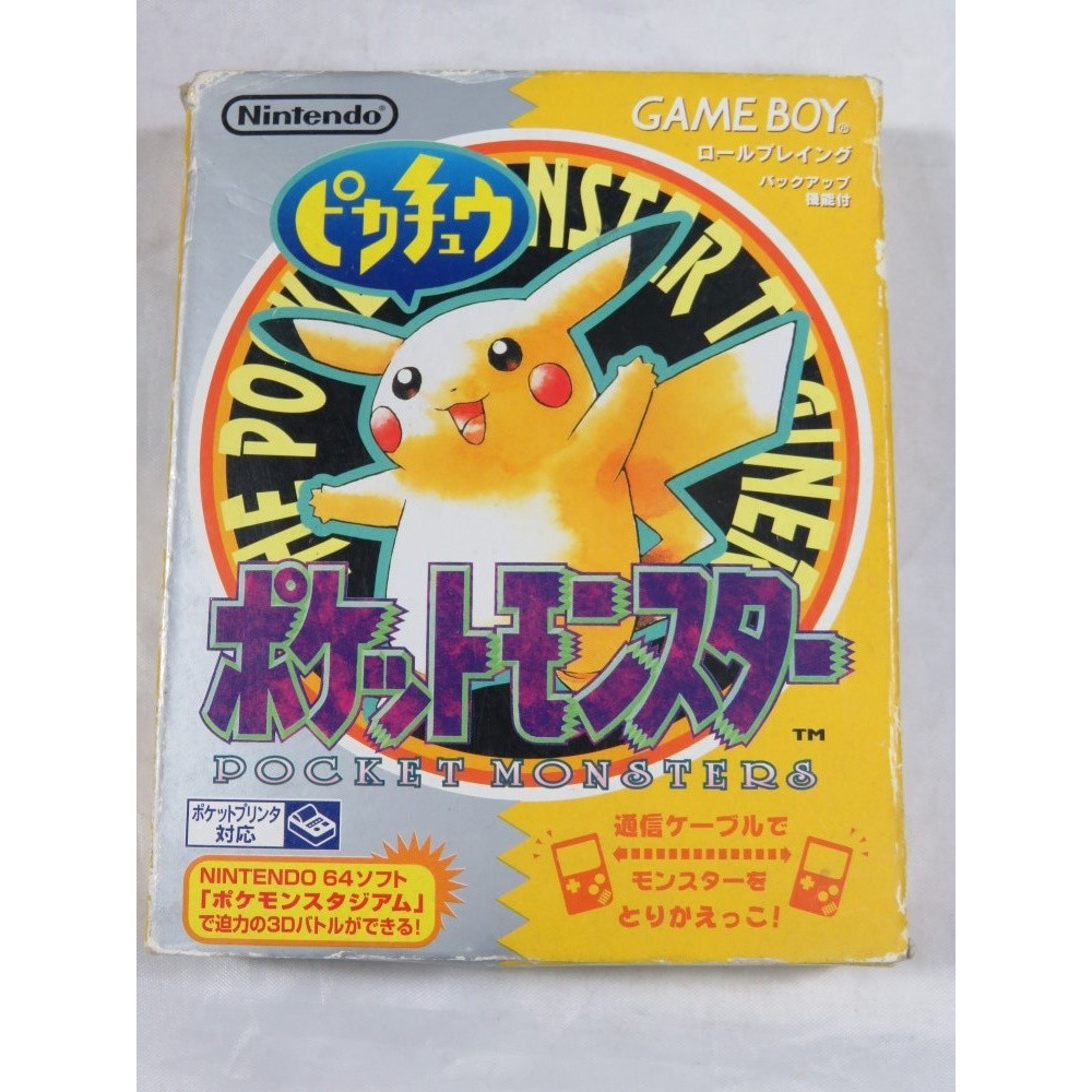 POCKET MONSTERS PIKACHU GAMEBOY JPN OCCASION