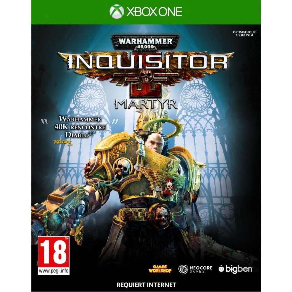 WARHAMMER 40 000 INQUISITOR MARTYR XBOX ONE FR OCCASION