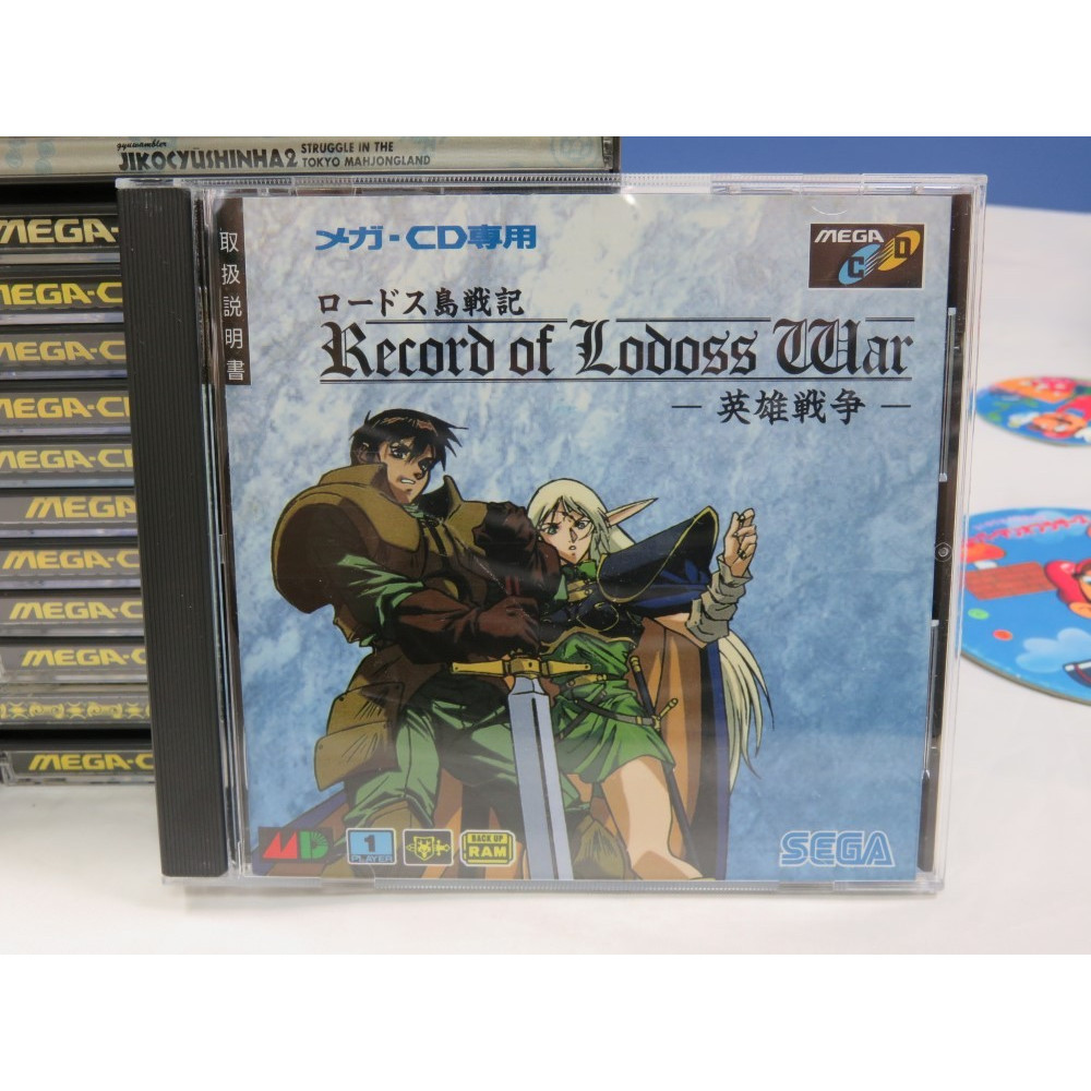 LODOSS WAR EIYUU SENSOU (+SPIN CARD) MEGA-CD JPN OCCASION