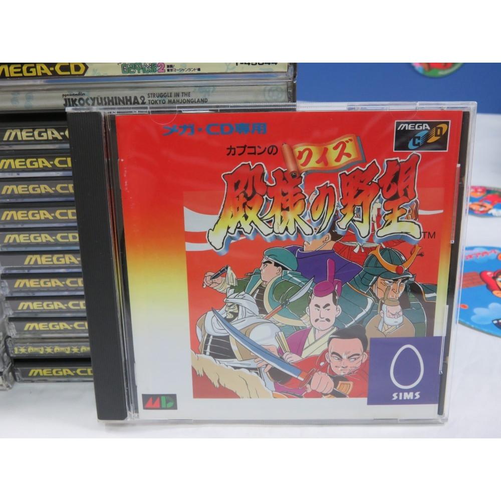 CAPCOM NO QUIZ TONOSAMA NO YABOU SEGA MEGA-CD NTSC-JPN (COMPLETE WITH SPIN CARD)