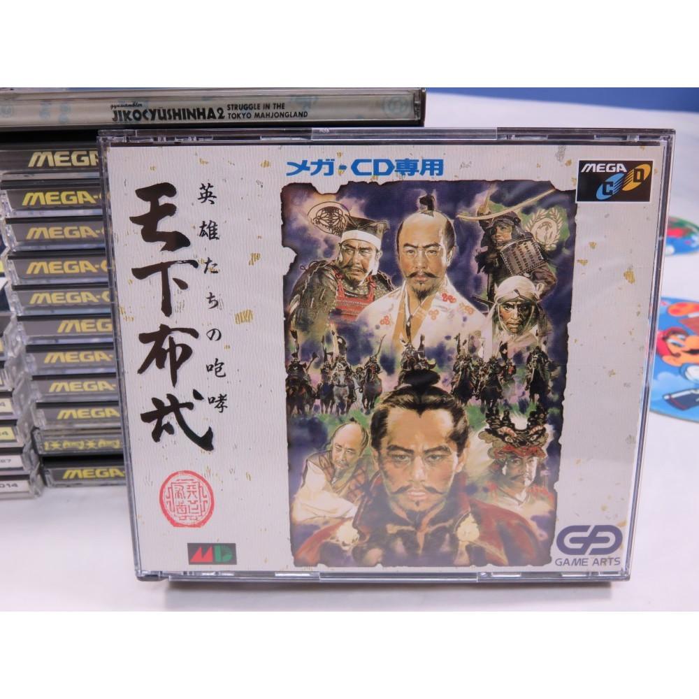 TENKAFUBU SEGA MEGA-CD NTSC-JPN (COMPLETE WITH SPIN CARD)