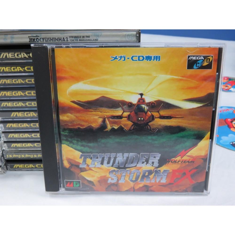 THUNDER STORM FX SEGA MEGA-CD NTSC-JPN (COMPLETE - GOOD CONDITION)