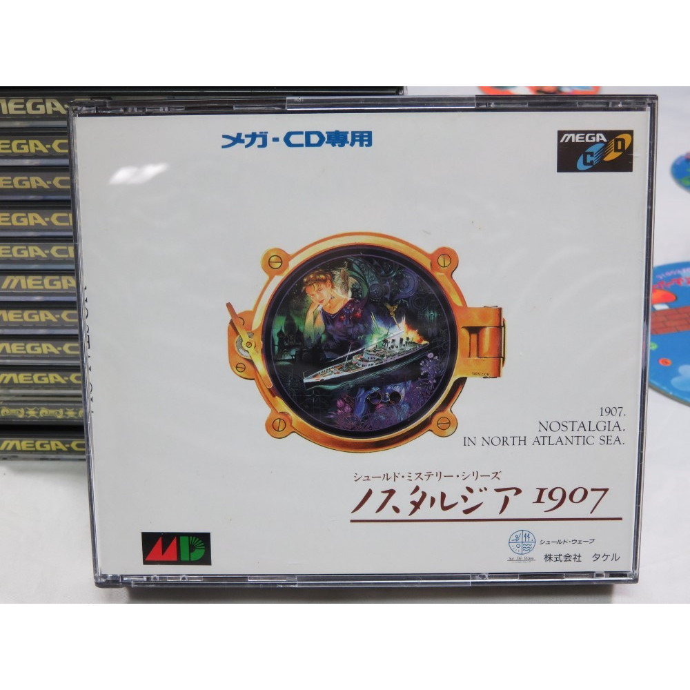 NOSTALGIA 1907 SEGA MEGA-CD NTSC-JPN (COMPLETE WITH SPIN CARD AND SOUNDTRACK - GOOD CONDITION)