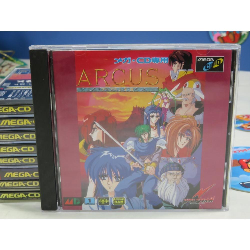 ARCUS I.II.III (+SPIN CARD) MEGA-CD JPN OCCASION