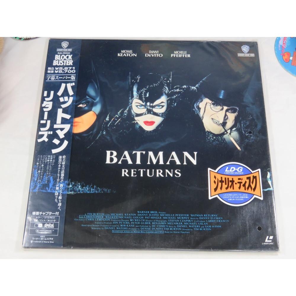BATMAN RETURNS LASER DISC NTSC-JPN OCCASION