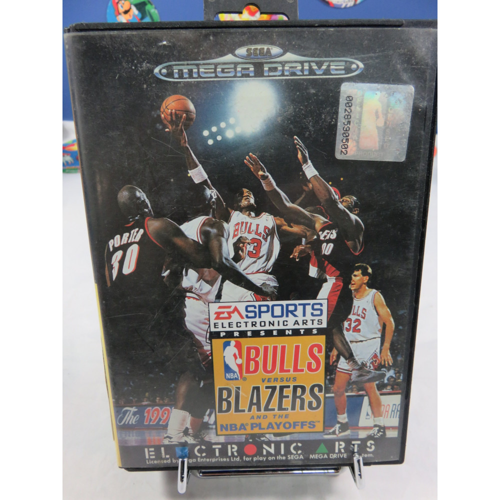 BULLS VERSUS BLAZERS AND THE NBS PLAYOFFS MEGADRIVE PAL-EURO OCCASION